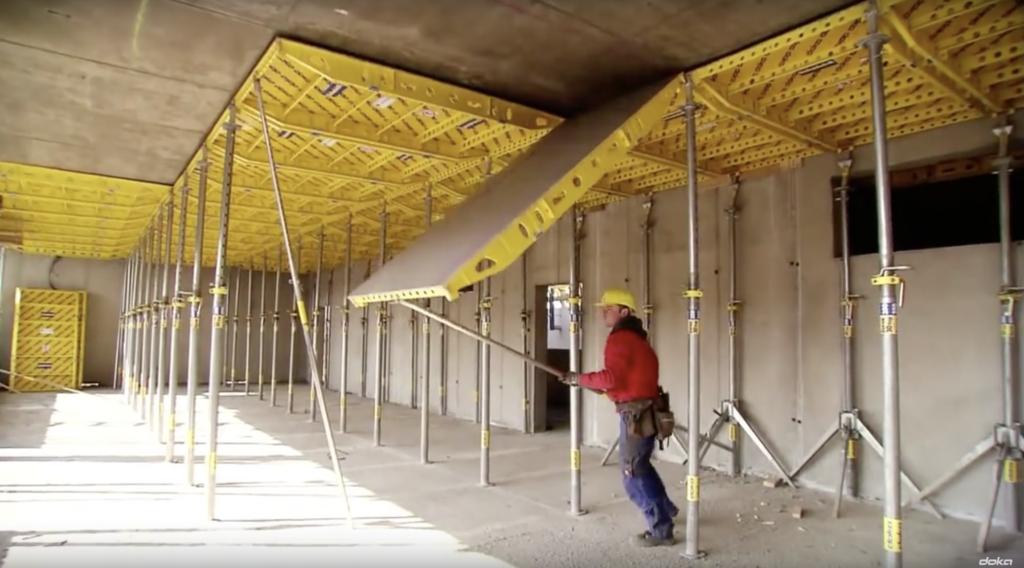 Dokadek 30 combines the advantages of a panel floor formwork system
